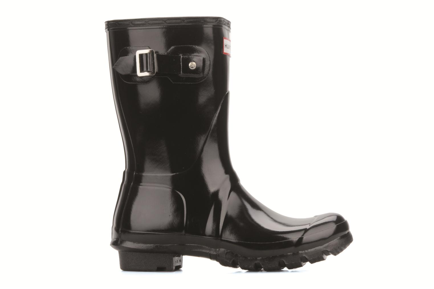 Ankle boots Hunter Hunter original short gloss w Black back view