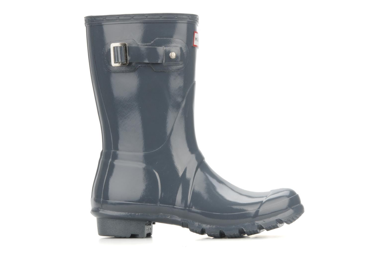 Bottines et boots Hunter Original short gloss Gris vue derrière