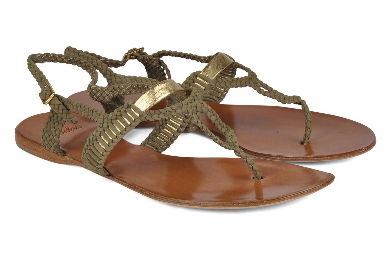Sandals Maloles Liya Green 3/4 view