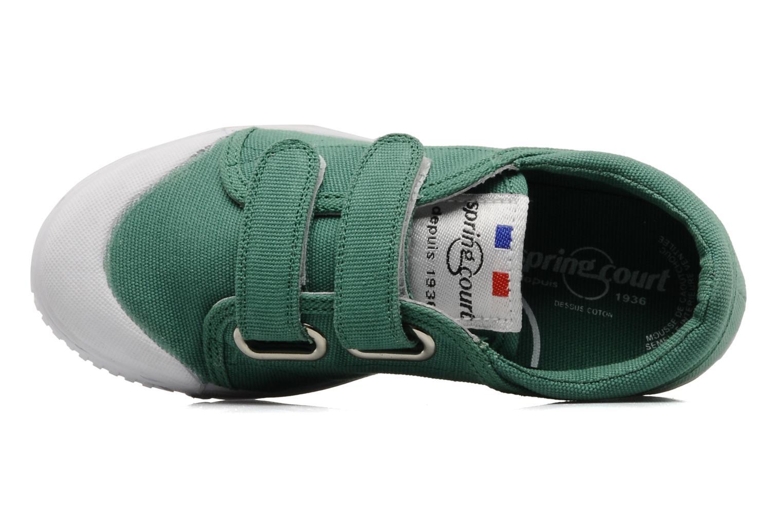 Baskets Spring Court Ge1 pad velcro Vert vue gauche