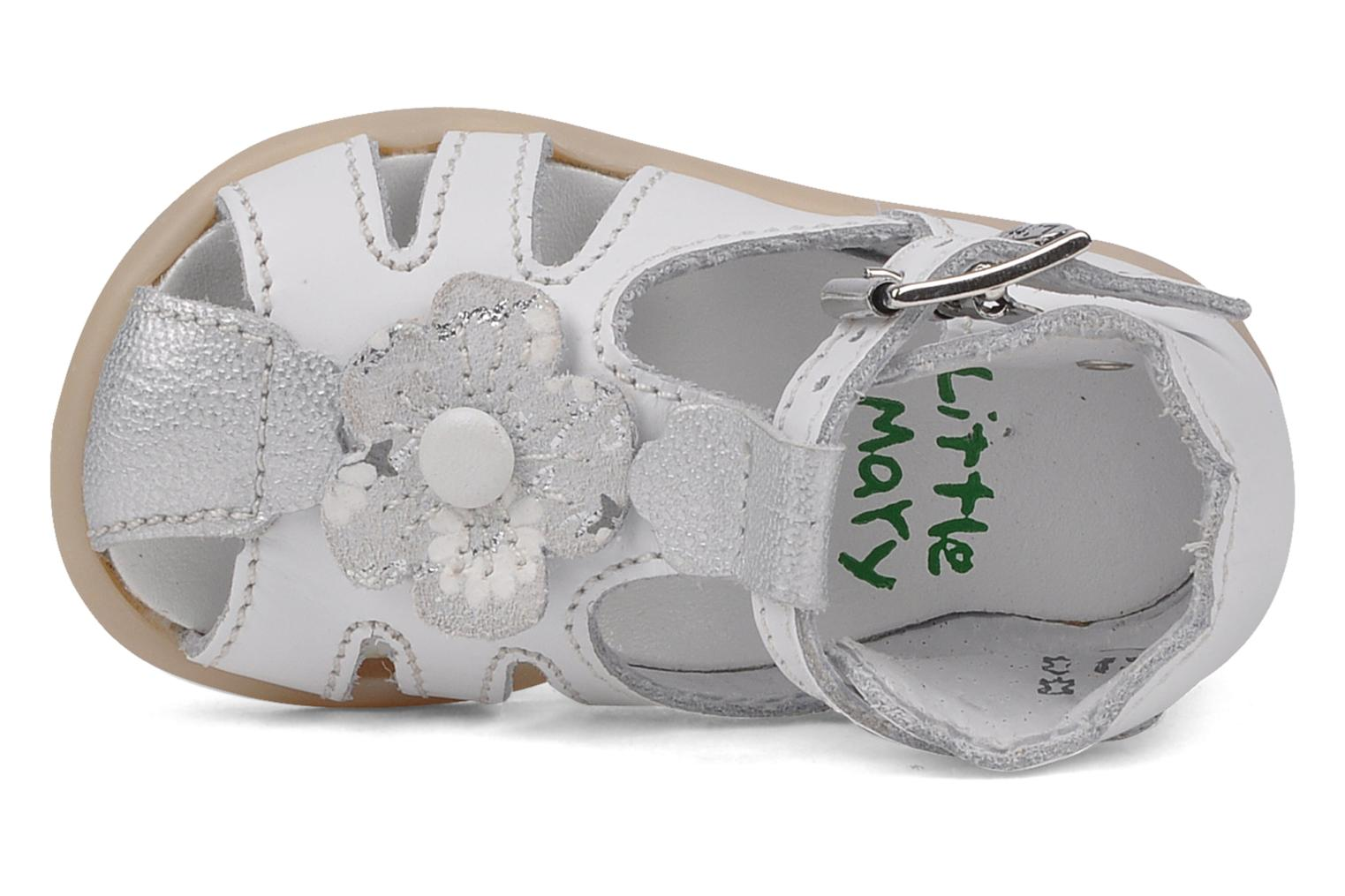 Sandalen Little Mary Hinesse Wit links