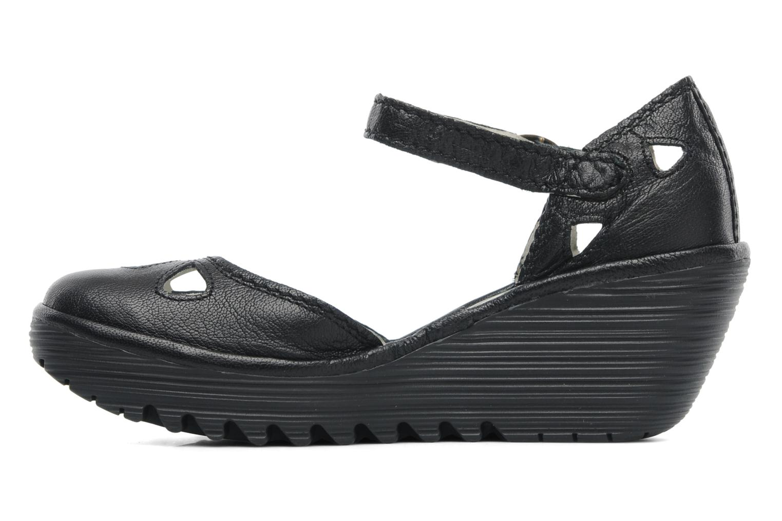 Sandalias Fly London Yuna Negro vista de frente