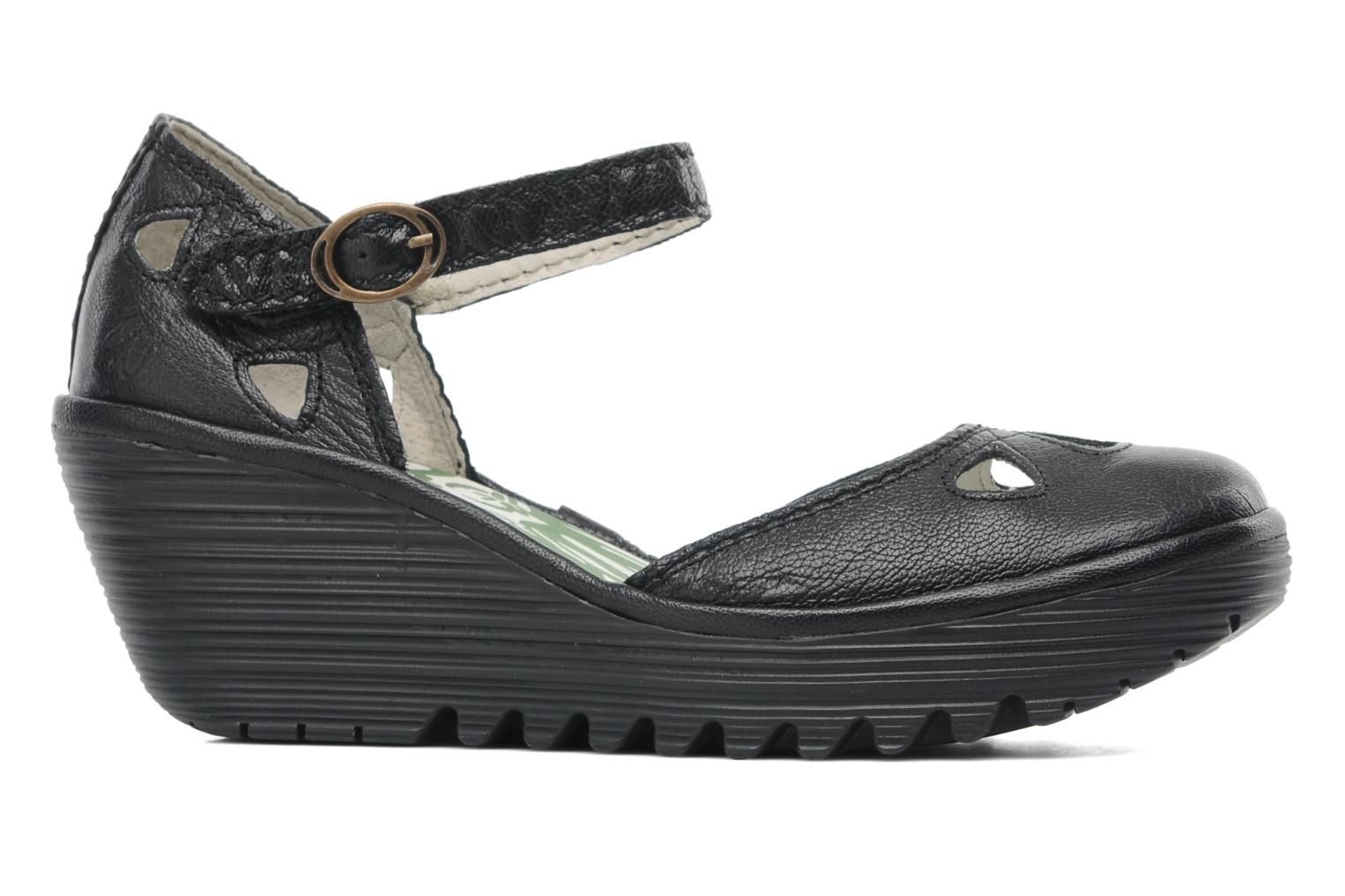 Sandalias Fly London Yuna Negro vistra trasera