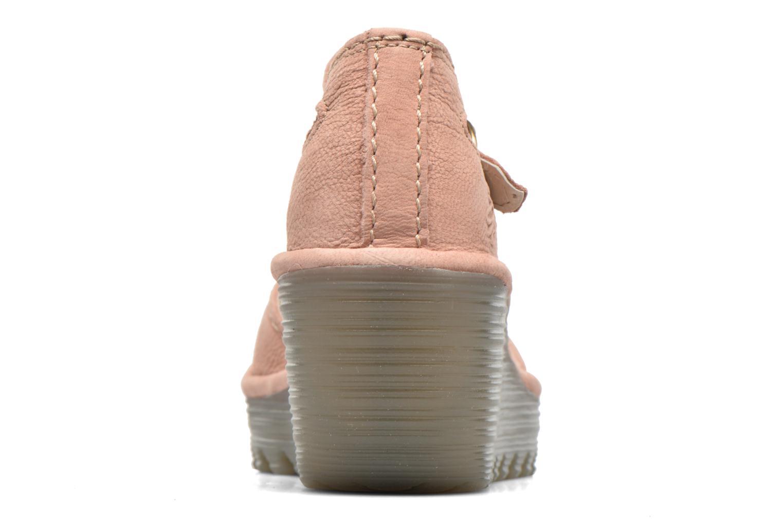 Sandaler Fly London Yuna Pink Se fra højre