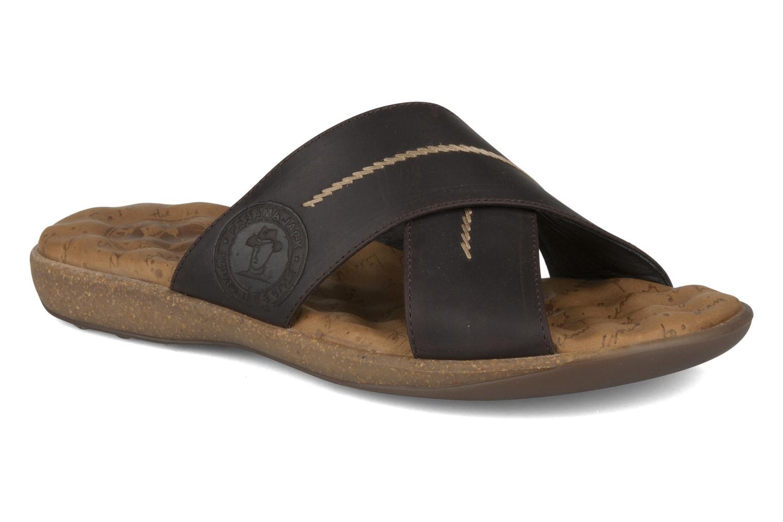 Sandals Panama Jack Kareb Brown detailed view/ Pair view
