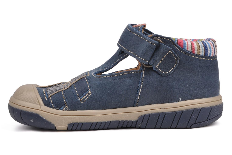 Summer boots Babybotte Safari Blue front view