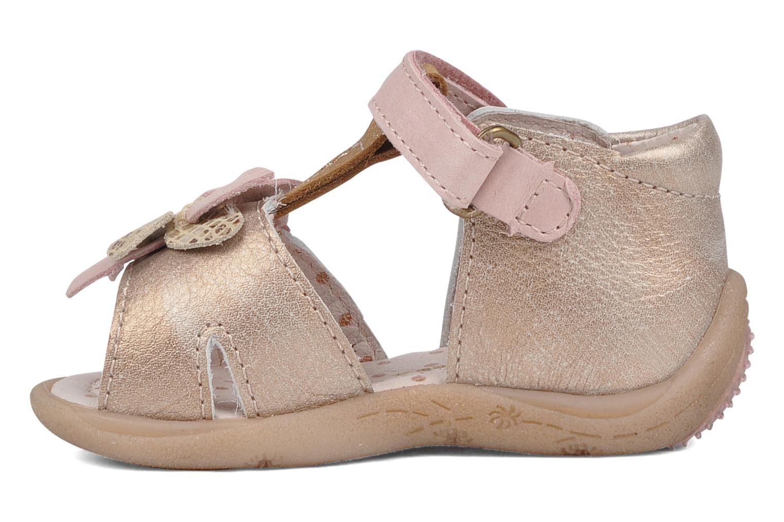 Sandals Babybotte Trezor Bronze and Gold front view