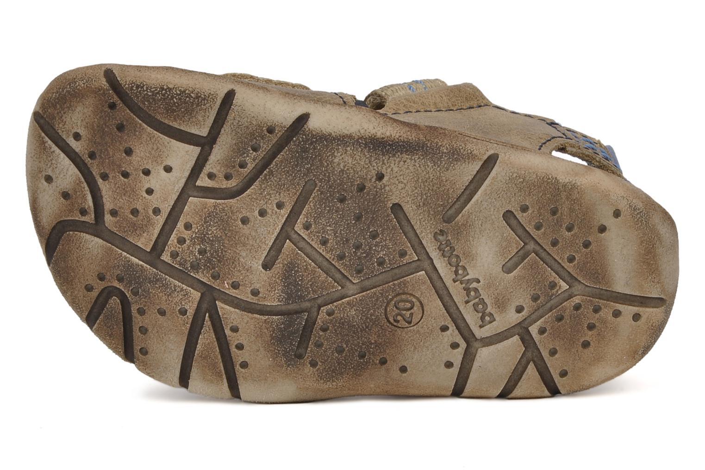 Sandales et nu-pieds Babybotte Tchin Marron vue haut