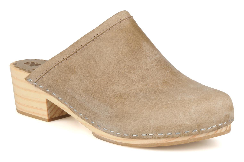 Clogs og træsko Acebo's 5594 Beige detaljeret billede af skoene