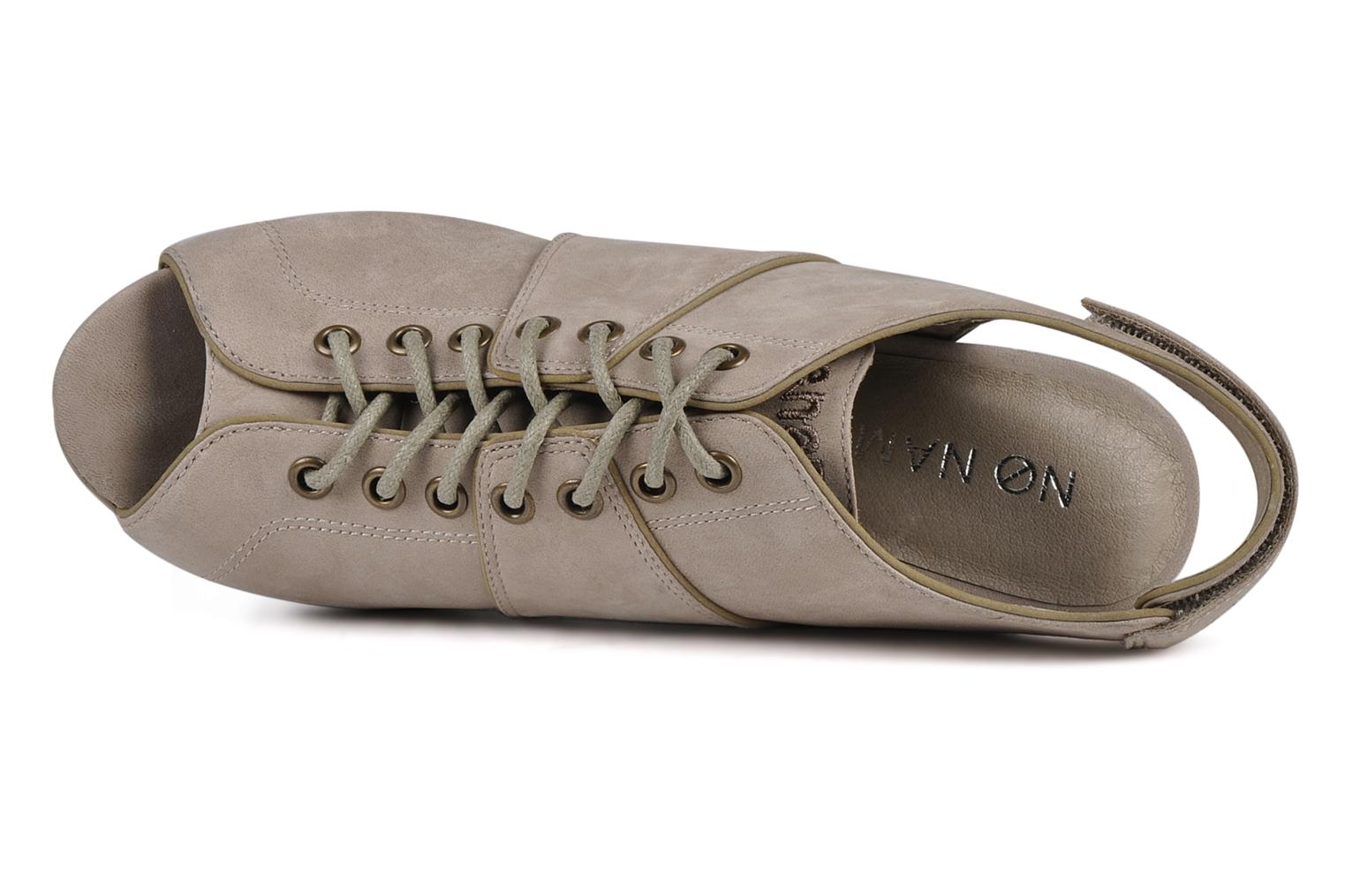 Sandals No Name Diva open toe Grey view from the left