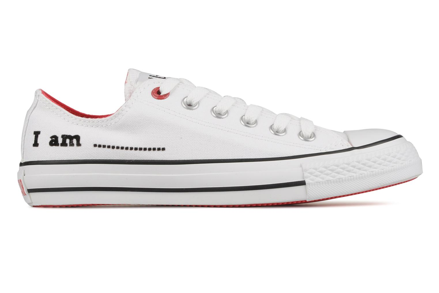 Trainers Converse Chuck taylor all star red i am … ox w White back view