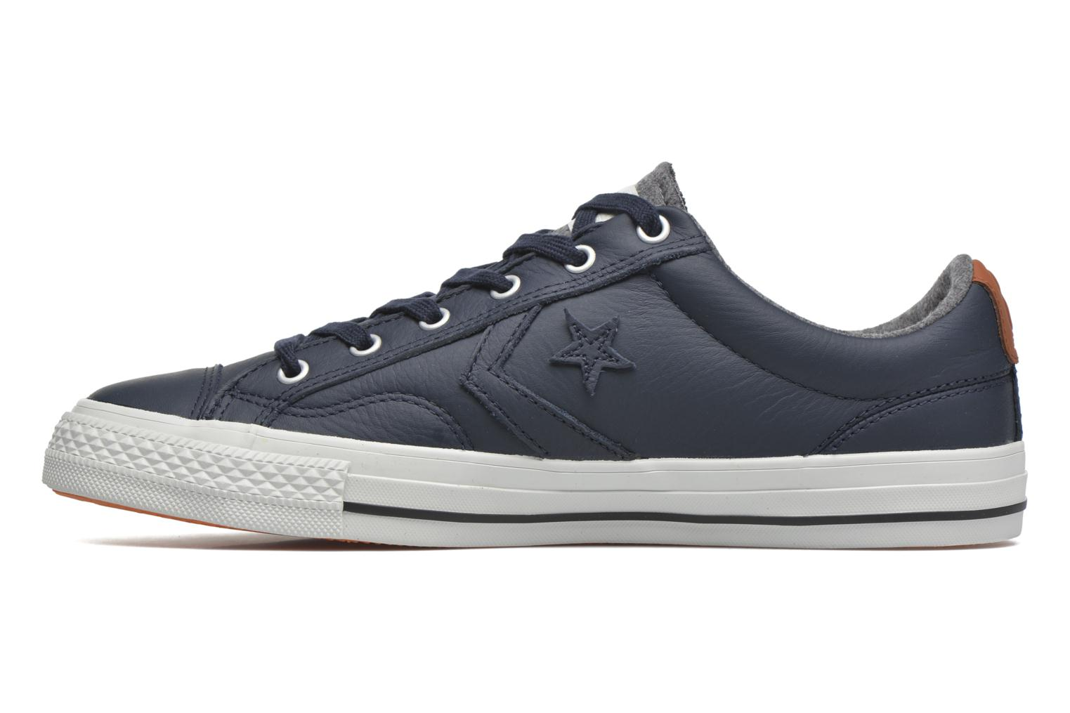 Sneakers Converse Star Player Leather Ox M Grijs voorkant