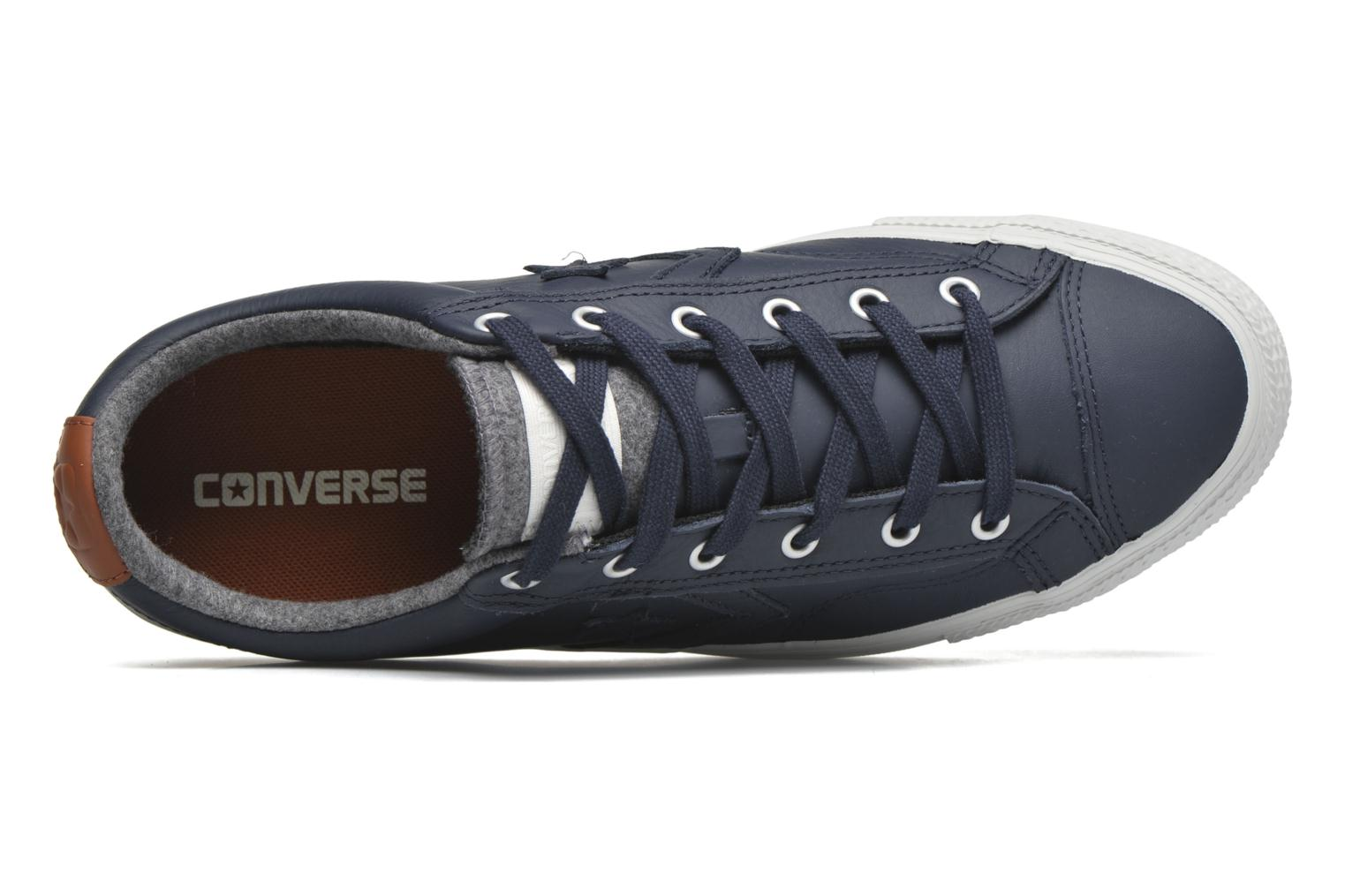 Sneakers Converse Star Player Leather Ox M Grijs links