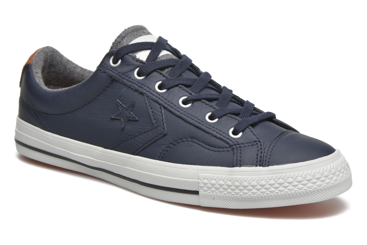 Sneakers Converse Star Player Leather Ox M Grijs detail