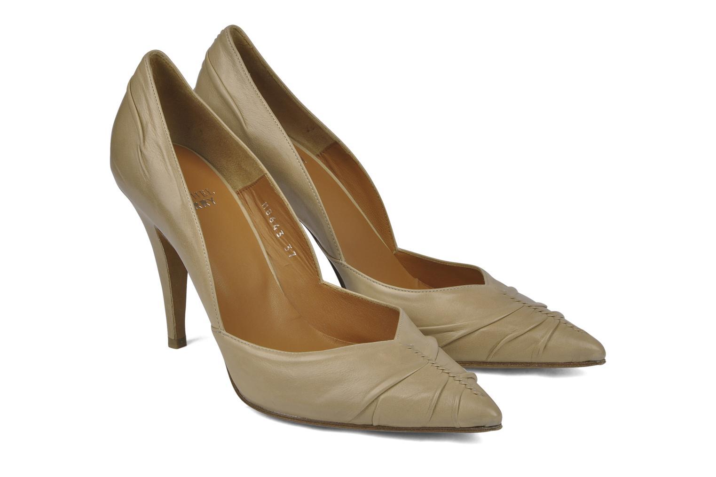 High heels Michel Perry Nemesis Beige 3/4 view
