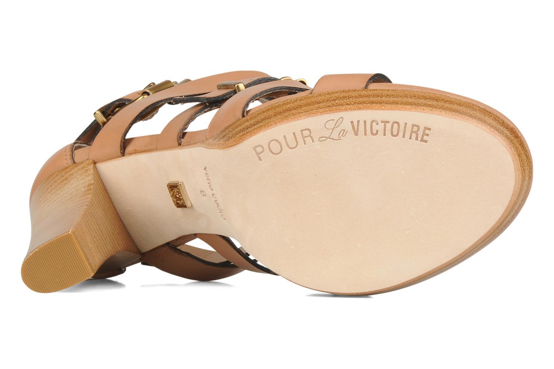 Sandales et nu-pieds Pour La Victoire Vanna Marron vue haut