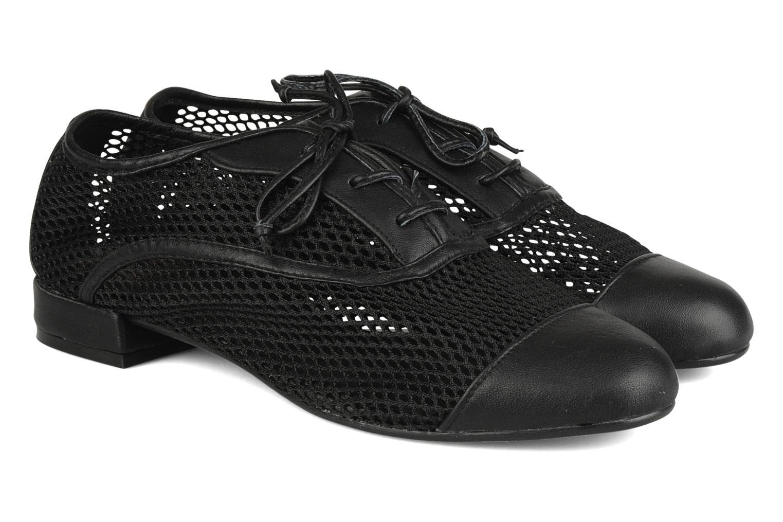 Zapatos con cordones Pour La Victoire Morina Negro vista 3/4