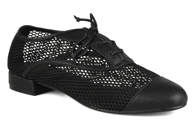 Lace-up shoes Pour La Victoire Morina Black detailed view/ Pair view