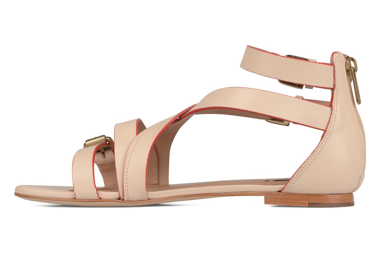 Sandales et nu-pieds Pour La Victoire Bryn Beige vue face