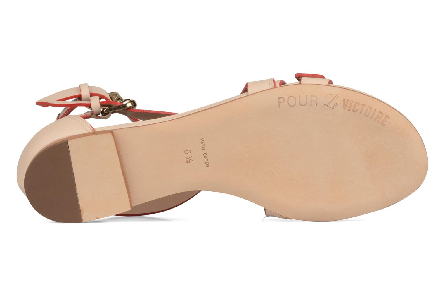 Sandals Pour La Victoire Bryn Beige view from above