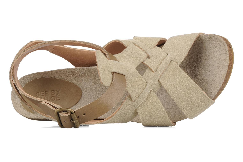 Sandales et nu-pieds See by Chloé Oleggio Beige vue gauche