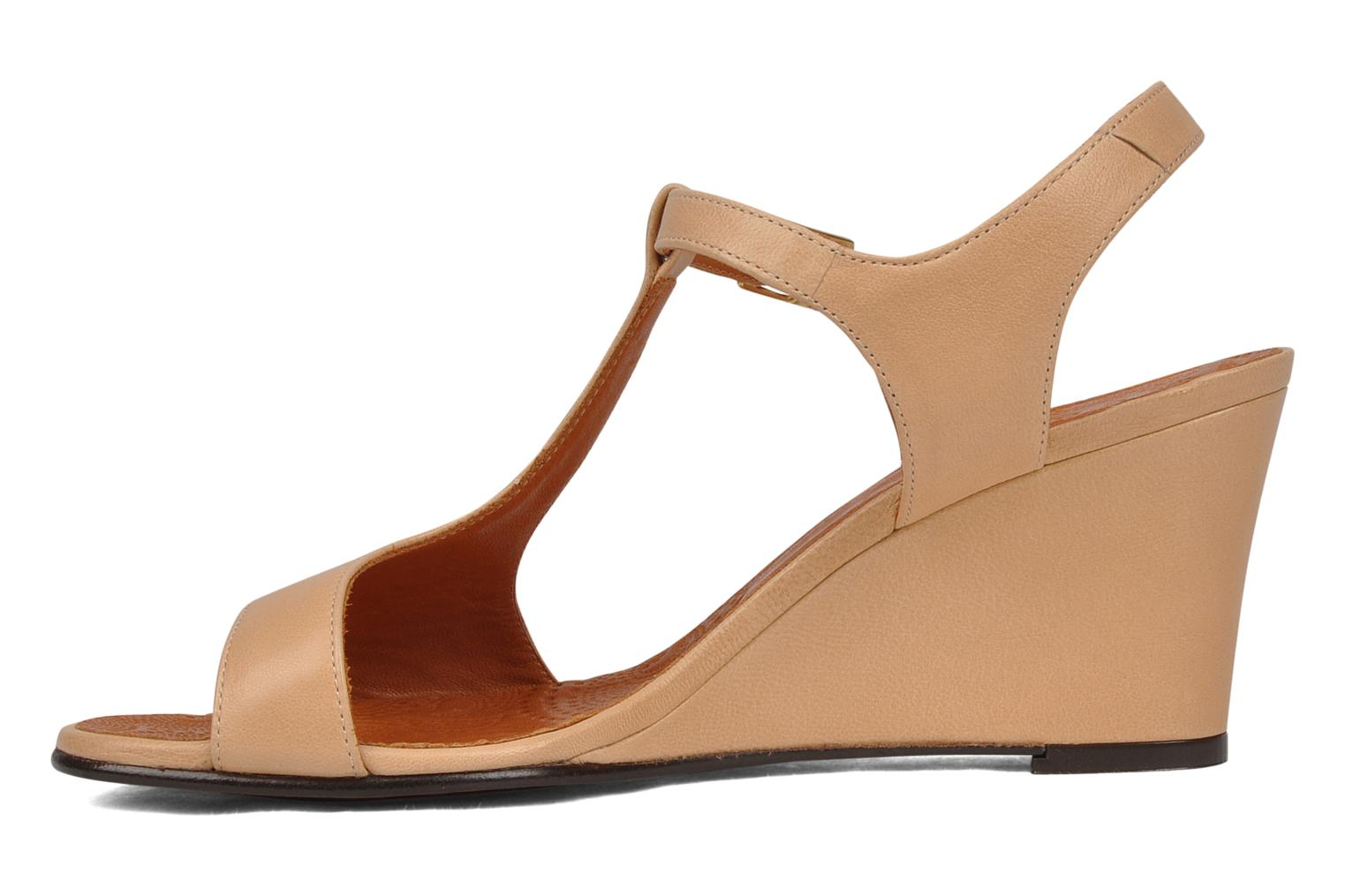 Sandals Chie Mihara Reparto Beige front view