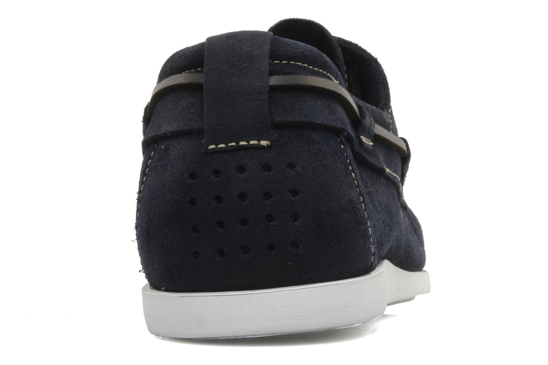 Zapatos con cordones TBS Asfeld Azul vista lateral derecha