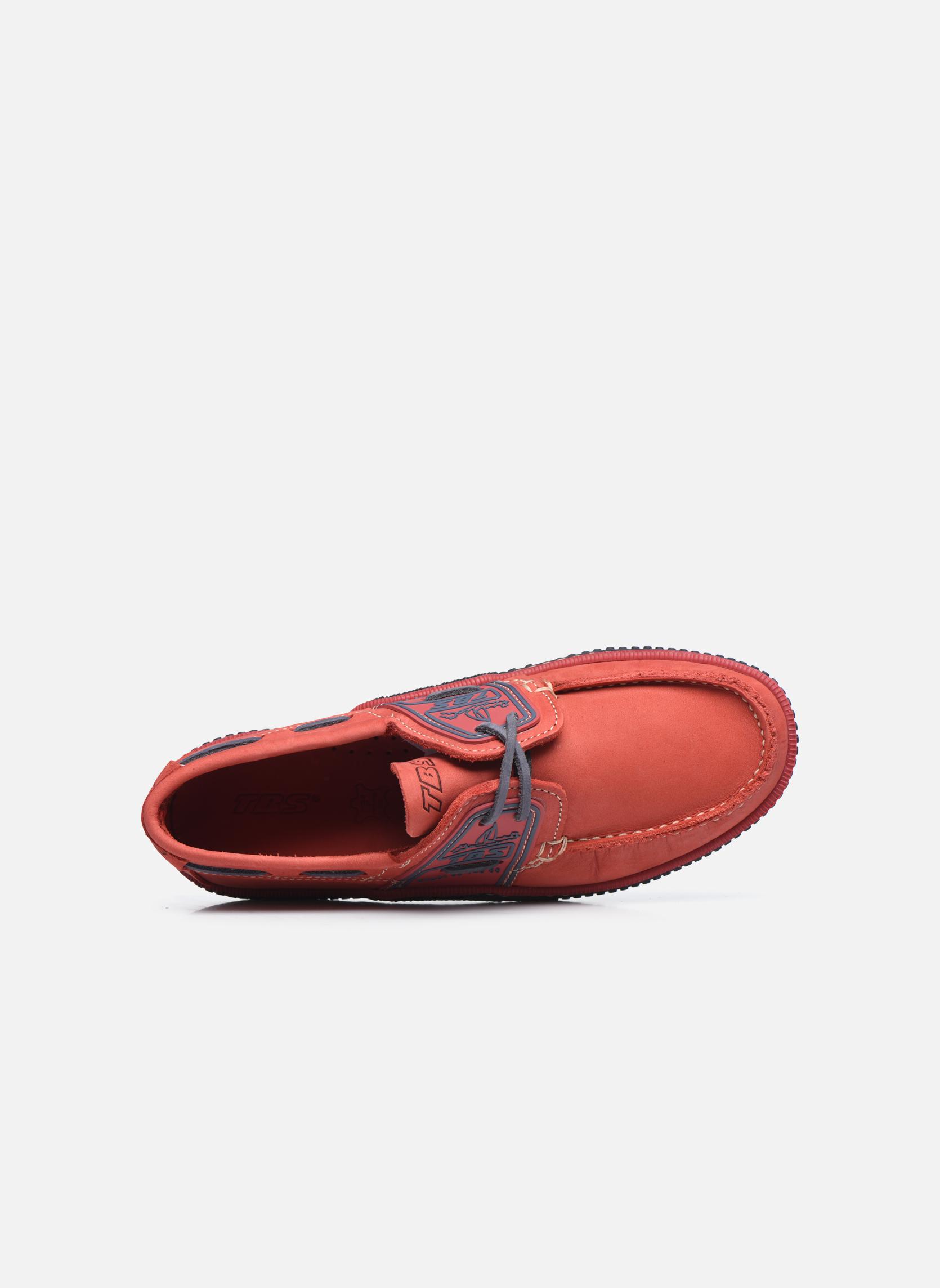 Zapatos con cordones TBS Globek Rojo vista lateral izquierda