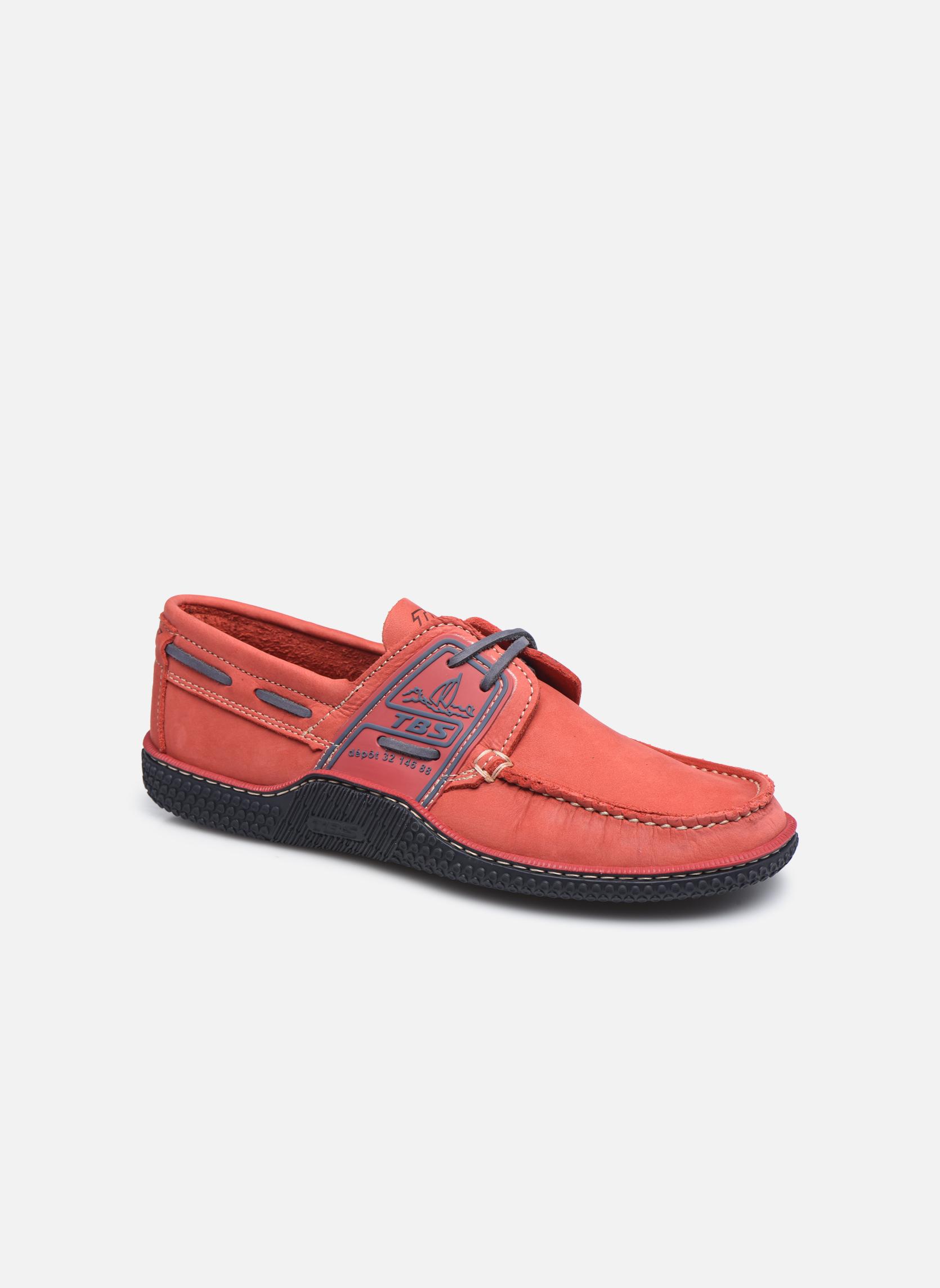Snøresko TBS Globek Rød detaljeret billede af skoene