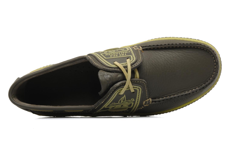 Zapatos con cordones TBS Globek Verde vista lateral izquierda