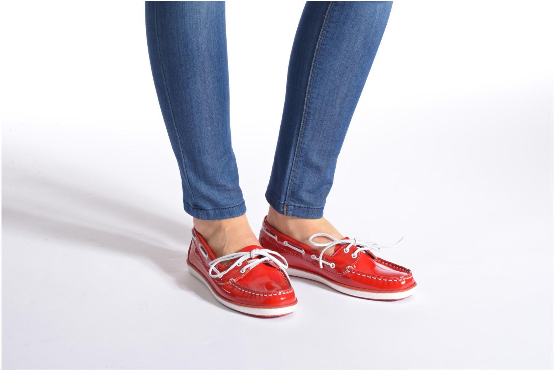 Chaussures à lacets TBS Clamer Violet vue bas / vue portée sac