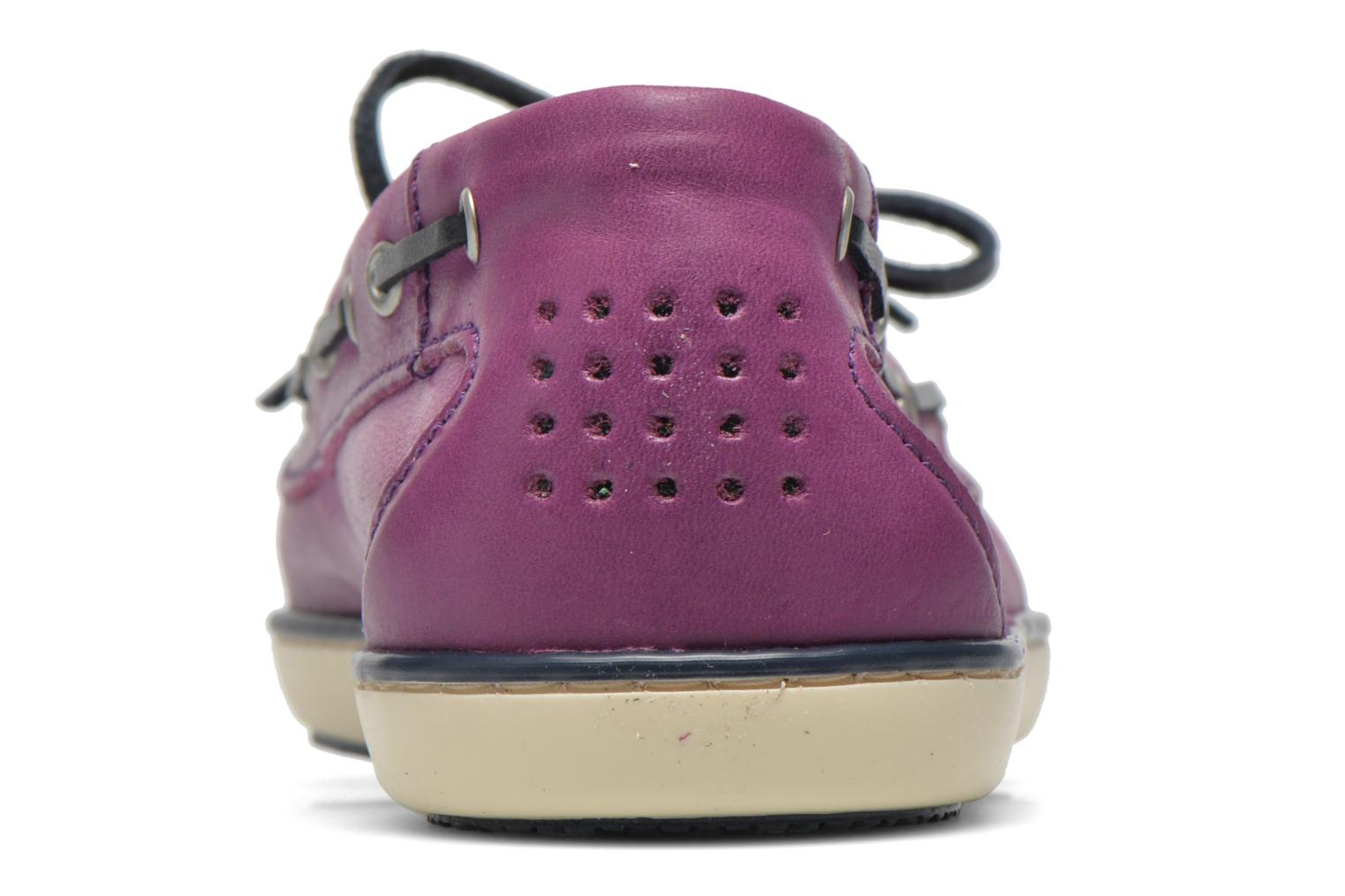 Lace-up shoes TBS Clamer Purple view from the right