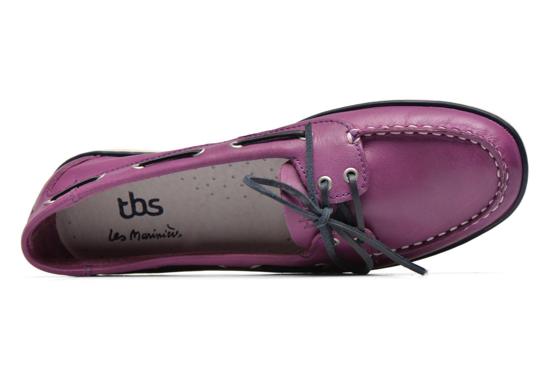 Chaussures à lacets TBS Clamer Violet vue gauche