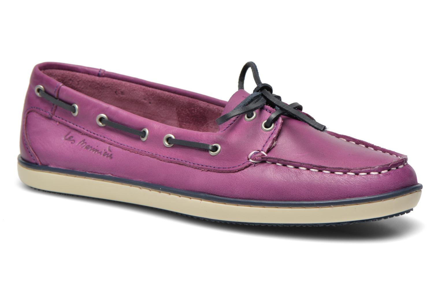 Lace-up shoes TBS Clamer Purple detailed view/ Pair view