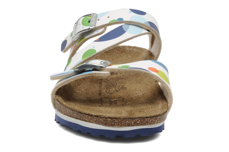 Sandalen Birki's Salina Flor E blau schuhe getragen