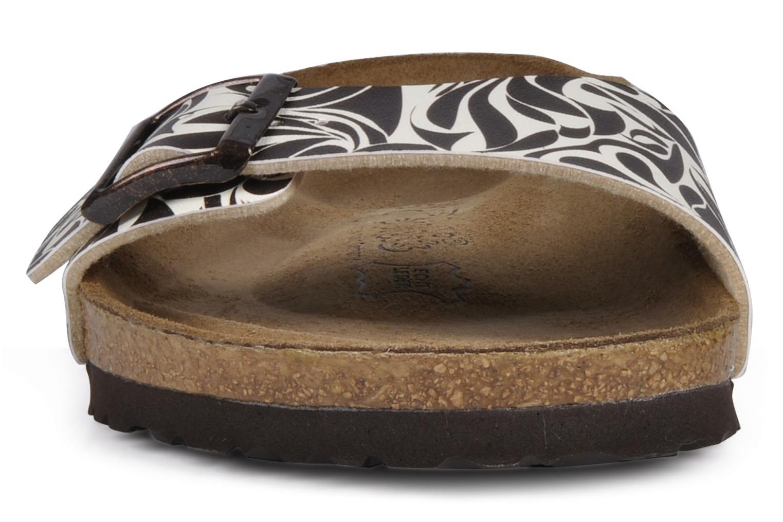 Sandals Birki's Valentin Flor M Brown model view