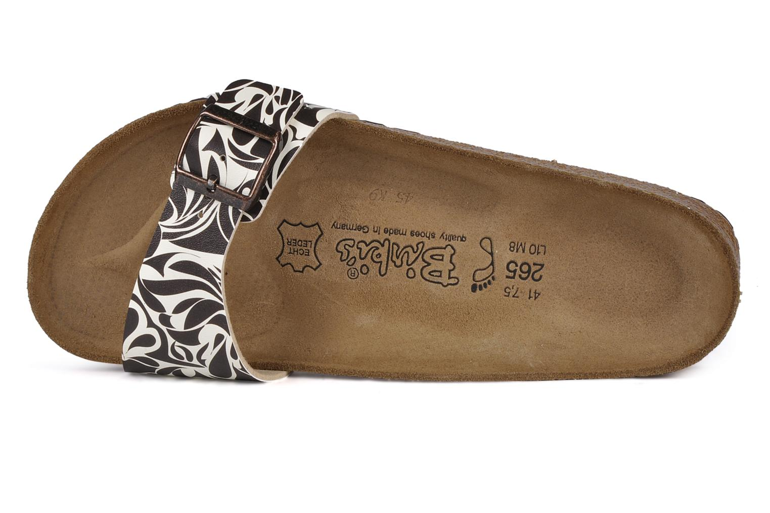 Sandals Birki's Valentin Flor M Brown view from the left