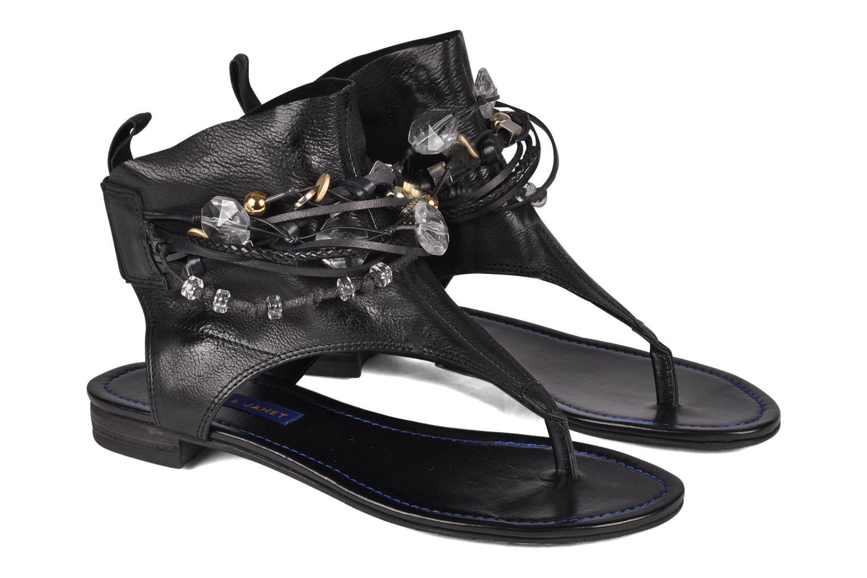 Sandals Janet & Janet Follini Black 3/4 view