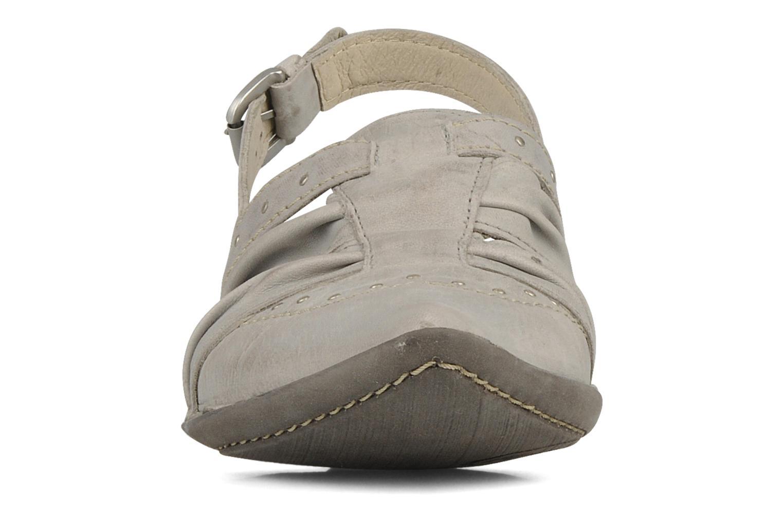 Sandales et nu-pieds Khrio Siane Gris vue portées chaussures