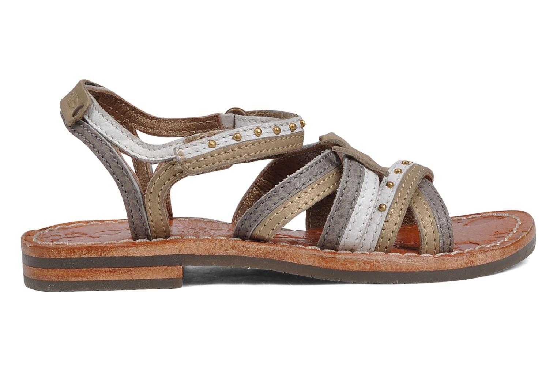 Sandales et nu-pieds chipie bis Savana Gris vue derrière