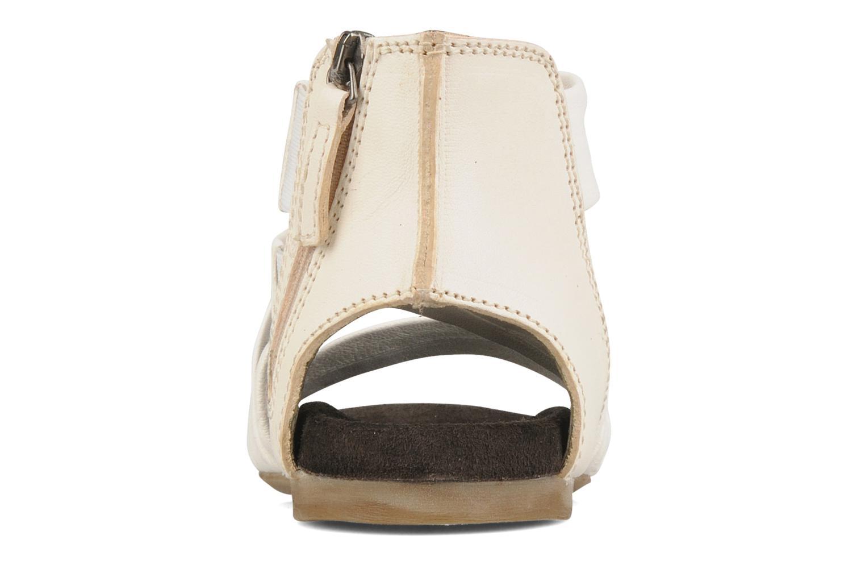Sandales et nu-pieds Manas Lazos Blanc vue droite