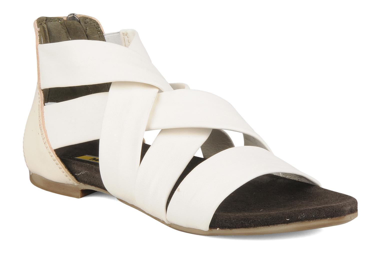 Sandales et nu-pieds Manas Lazos Blanc vue détail/paire