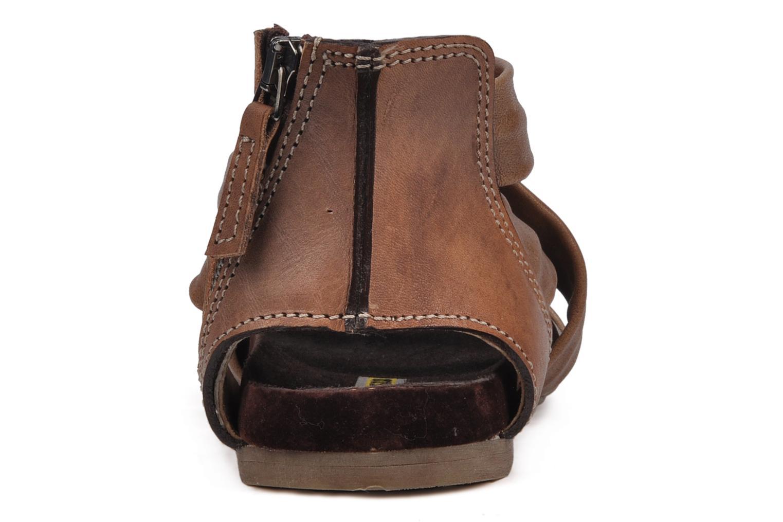 Sandales et nu-pieds Manas Lazos Gris vue droite