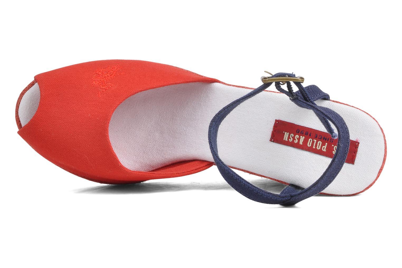 Sandales et nu-pieds U.S Polo Assn. Alena 4103s1 Rouge vue gauche