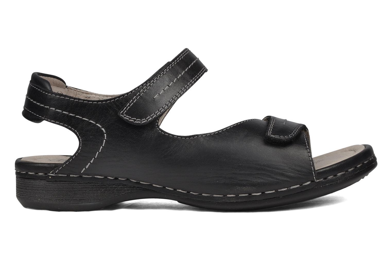 Sandales et nu-pieds Caprice Lysandra Noir vue derrière