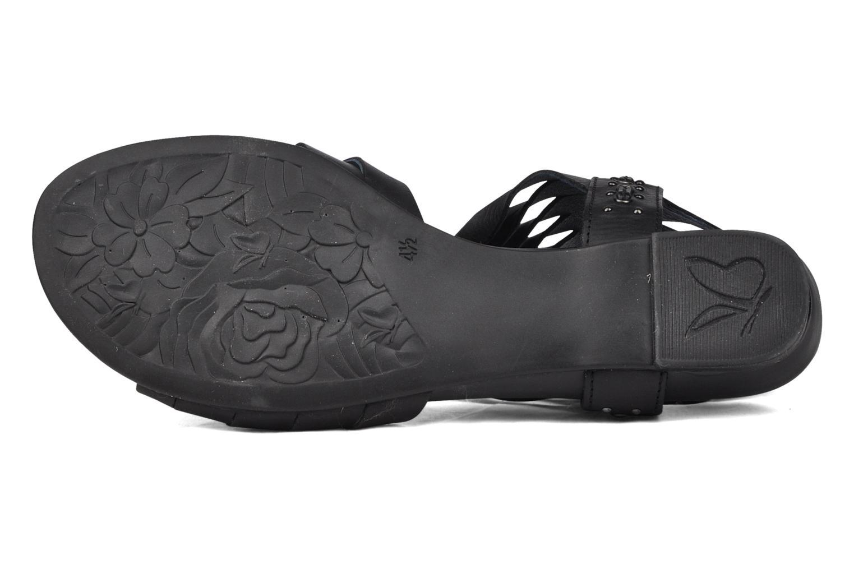 Sandales et nu-pieds Caprice Hyles Noir vue haut