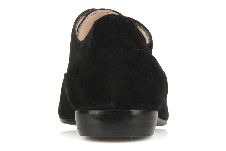Chaussures à lacets Georgia Rose Saïan Noir vue droite