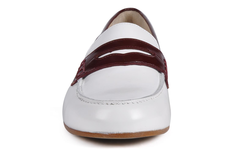 Mocassins Georgia Rose Massaï Blanc vue portées chaussures