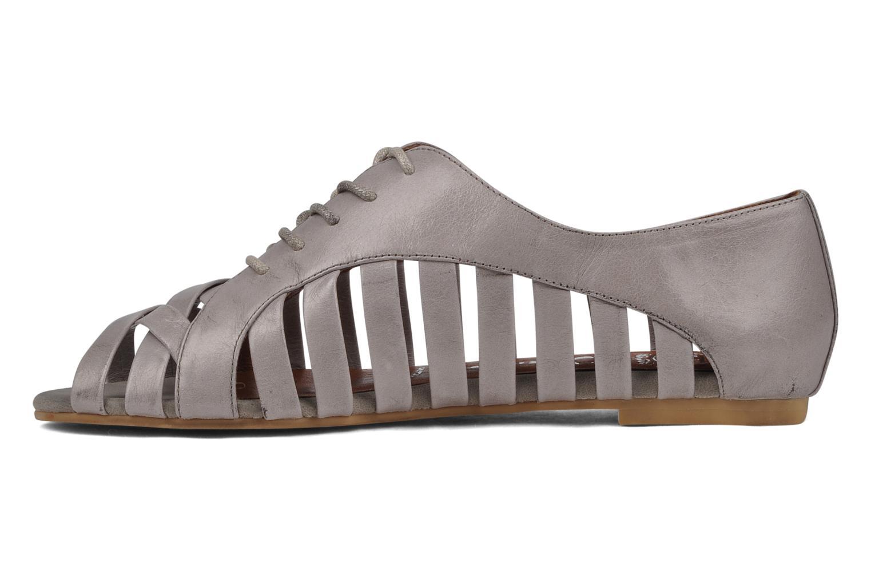 Zapatos con cordones Jeffrey Campbell Hoyt Gris vista de frente