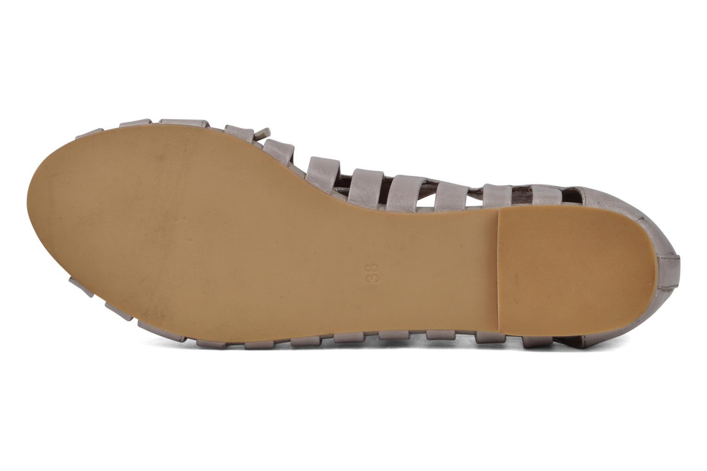 Zapatos con cordones Jeffrey Campbell Hoyt Gris vista de arriba